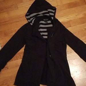 Juniors medium peacoat sweatshirt jacket